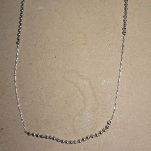 Dainty SS 925 Ball Beaded Chain Link Necklace
